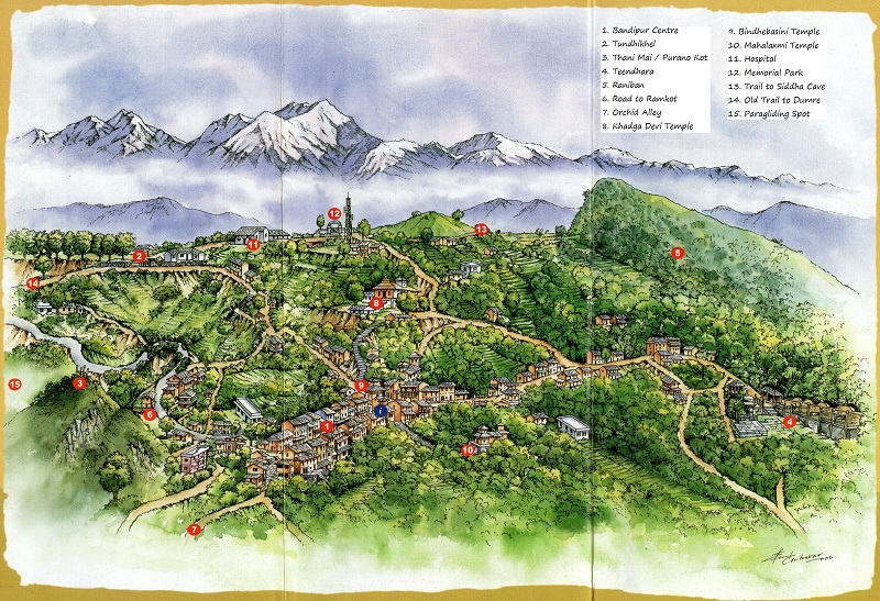 Bandipur Nepal  City new picture : Map of Bandipur, Nepal